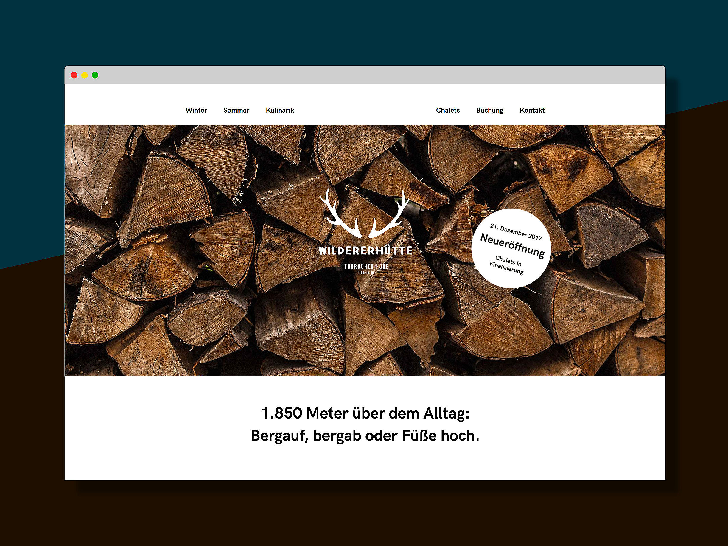 Wildererhütte Webdesign